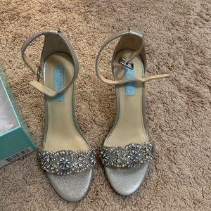 Betsey Johnson Juno Silver Heels